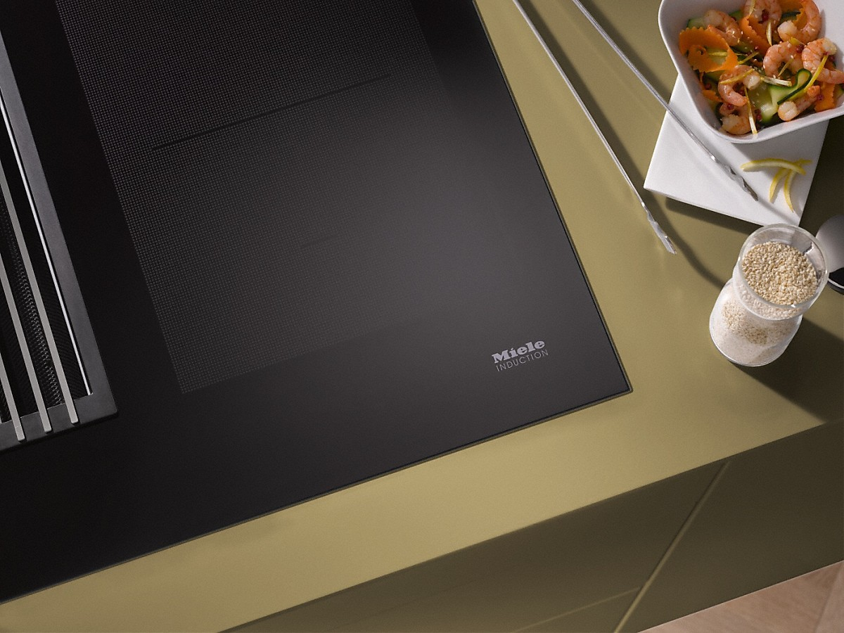 Miele kmda 7774 fl plaque de cuisson induction avec - Plaque induction hotte integree ...
