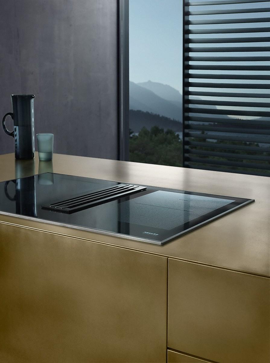 Miele kmda 7774 fr plaque de cuisson induction avec hotte int gr e - Plaque induction hotte integree ...