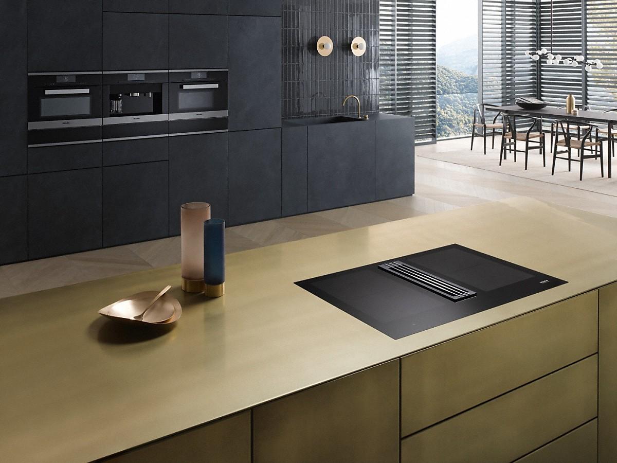 miele kmda 7774 fl plaque de cuisson induction avec hotte int gr e. Black Bedroom Furniture Sets. Home Design Ideas